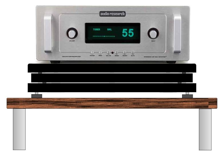 base antivibrazione elettroniche 1 montaggio audio research