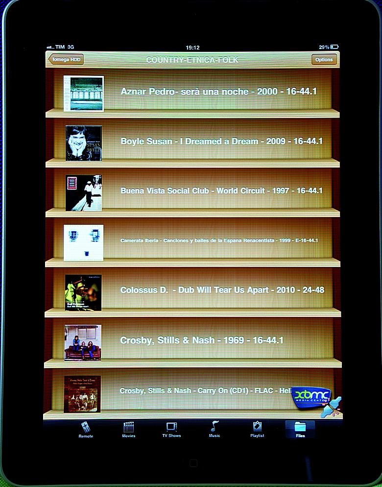 Half Moon System Libreria musicale su iPad