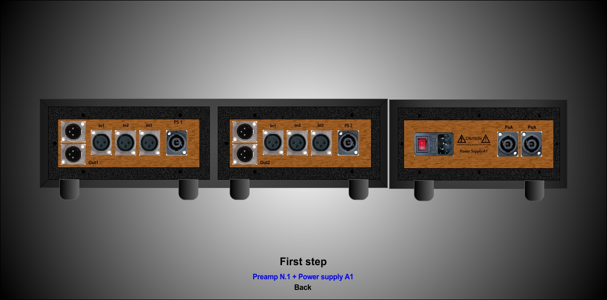 PreAmp N.1 fist step back